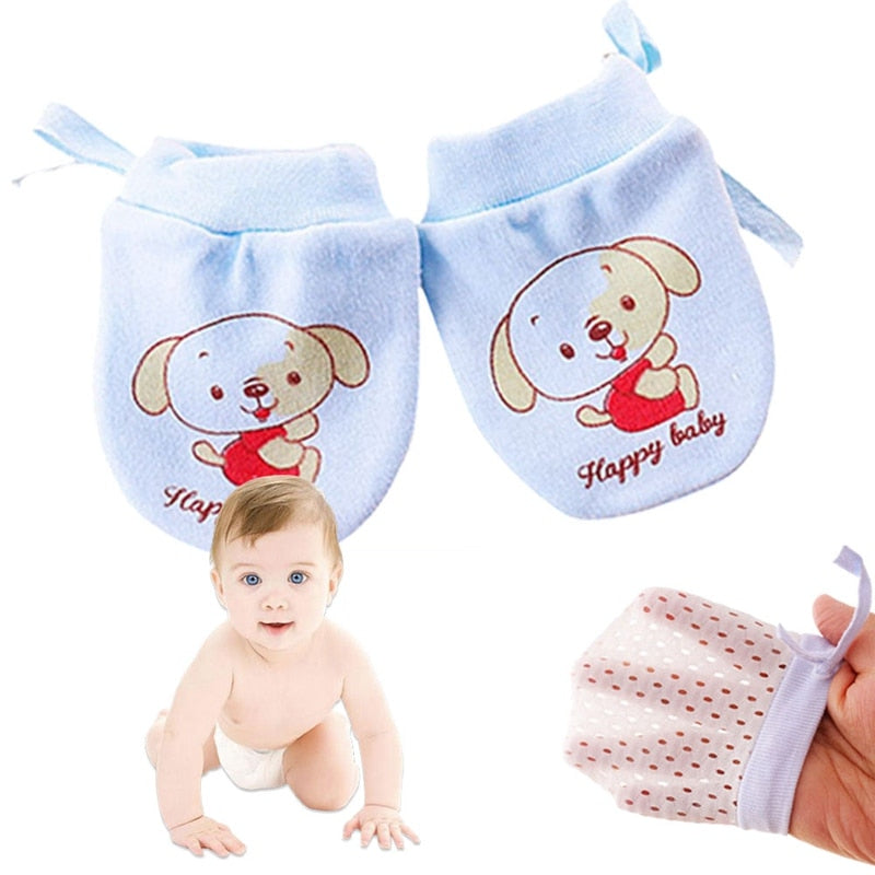 Baby Elastic Anti-Scratch Adjustable Gloves for Face Protection