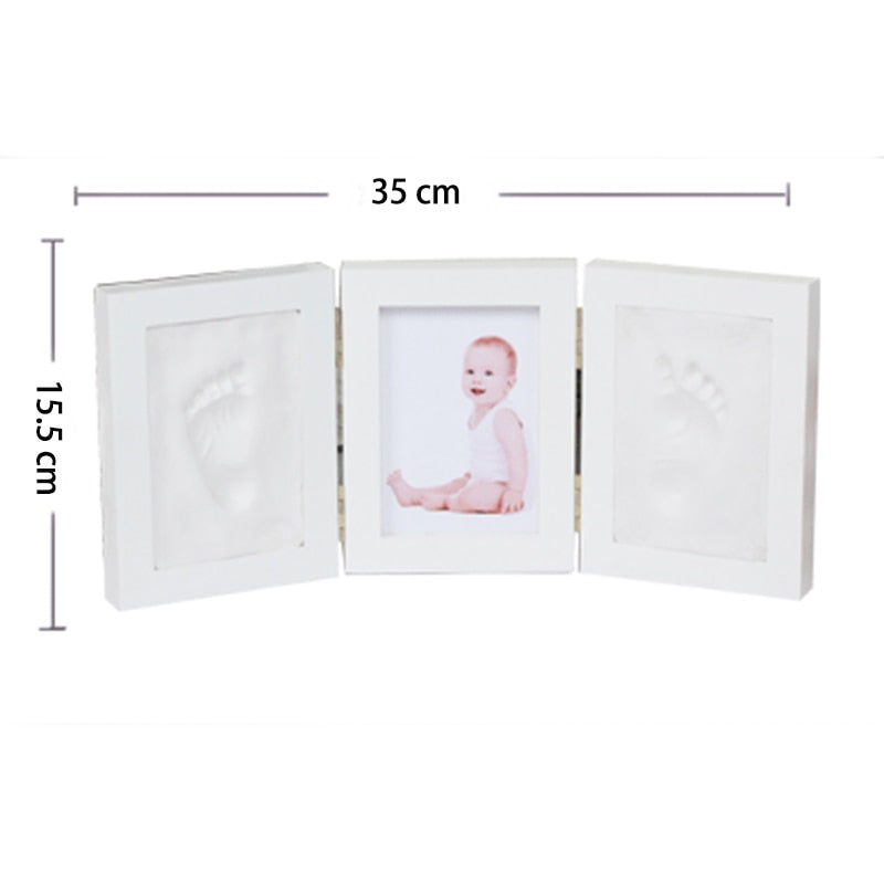 Cute Baby Photo Frame DIY Handprint & Footprint Imprint Air Drying Soft Clay