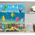 Underwater Ocean Adventure Shower Curtain