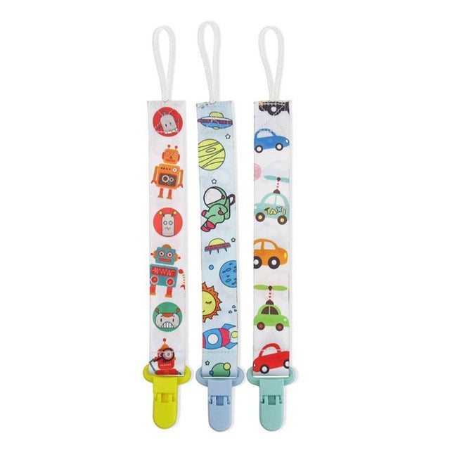 Baby Pacifier Chain Clip (3 piece set)