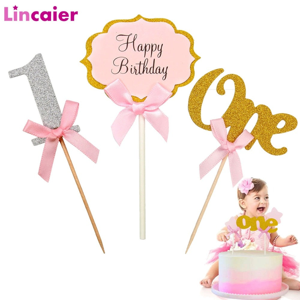 First Birthday Cake & Cupcake Toppers (22 styles available)