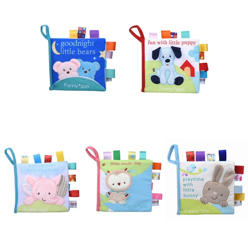 Soft Cloth Animal Story Books  (5 options)