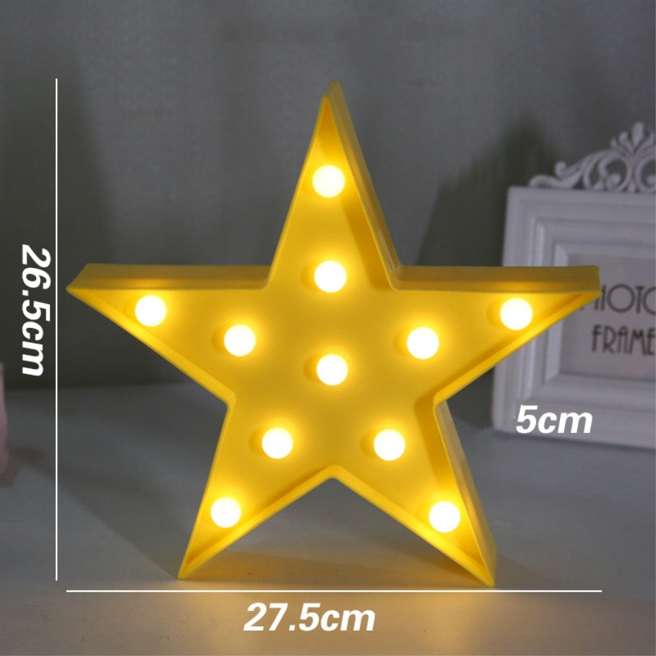 LED Night Light Battery Operated (10 shapes available)