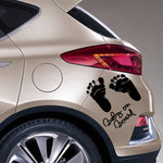 Baby on Board Baby Feet Car Sticker