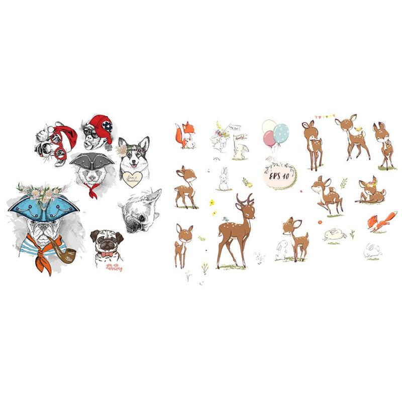 Dogs or Deers Wall Stickers