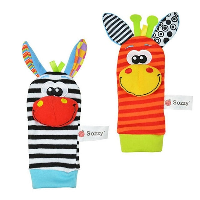 Fun Wrist Wrap or Feet Sock Puppets for Baby Entertainment
