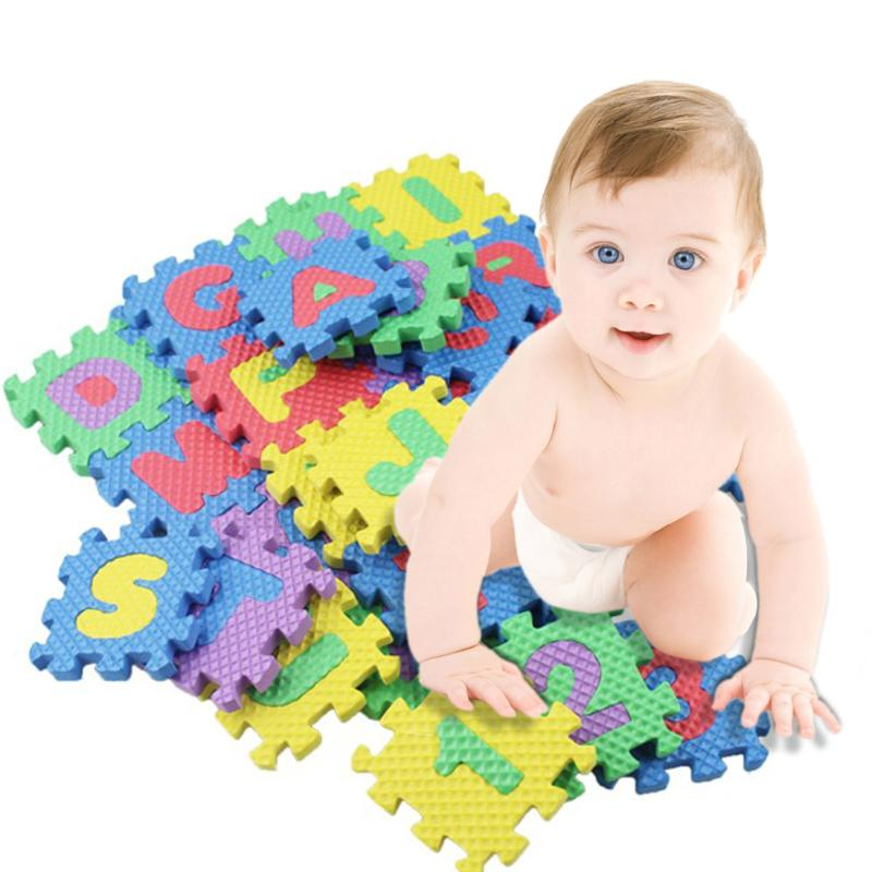 Soft Letters & Numbers Puzzle Mat/Blocks Set (36 pieces)
