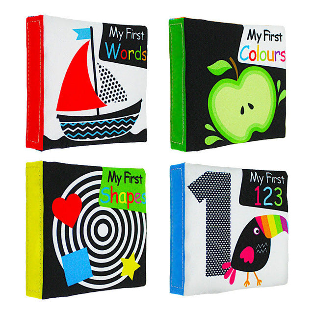 Baby Learning Cloth Book Set (4 books in the set)