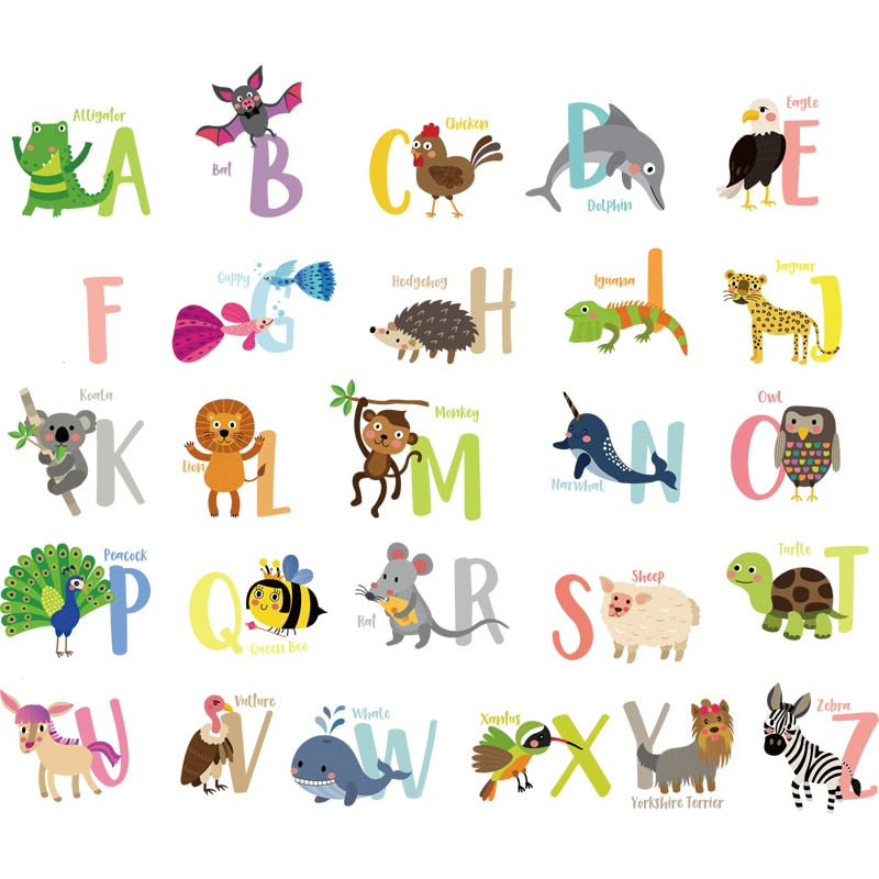 Animal Alphabet Wall Stickers