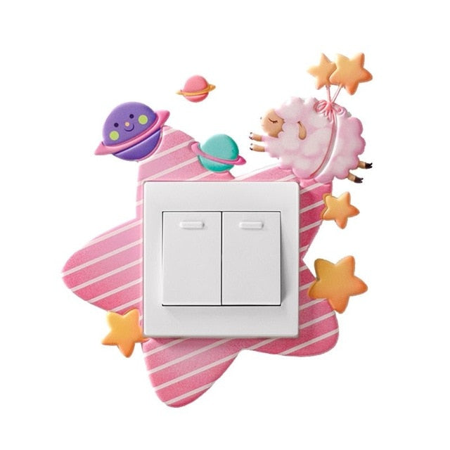 Animal Switch Cover Wall Sticker