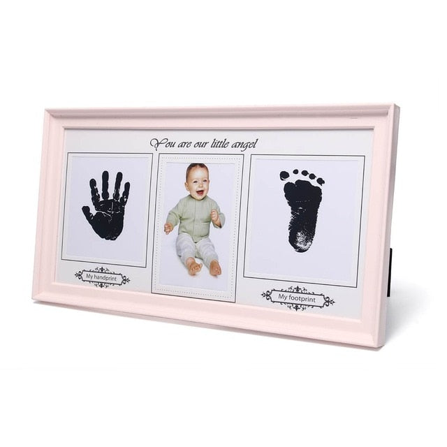 Baby Photo Cast Frame with Hand & Foot Print