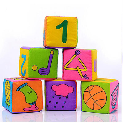 Educational Cloth Building Blocks Set (6 blocks in a set)