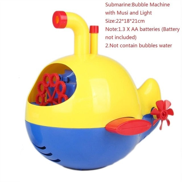 Bath Bubble Blower Machine with Music & Light (8 sea creatures available)