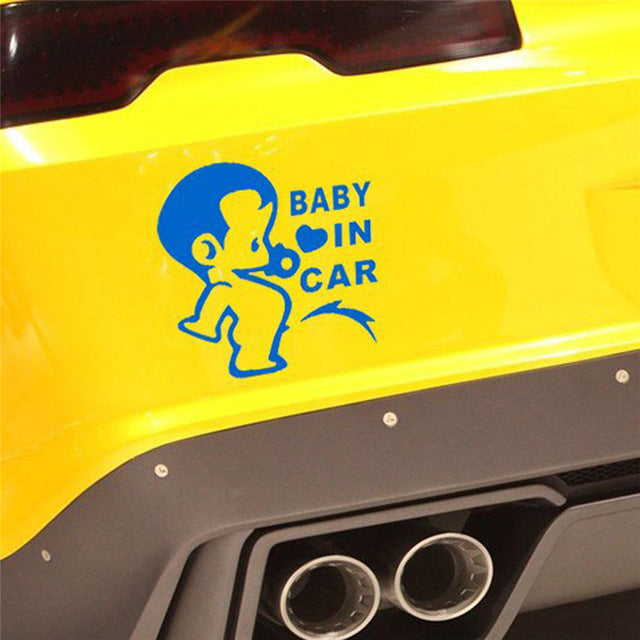 Baby in Car Funny Car Sticker (5 colors available)