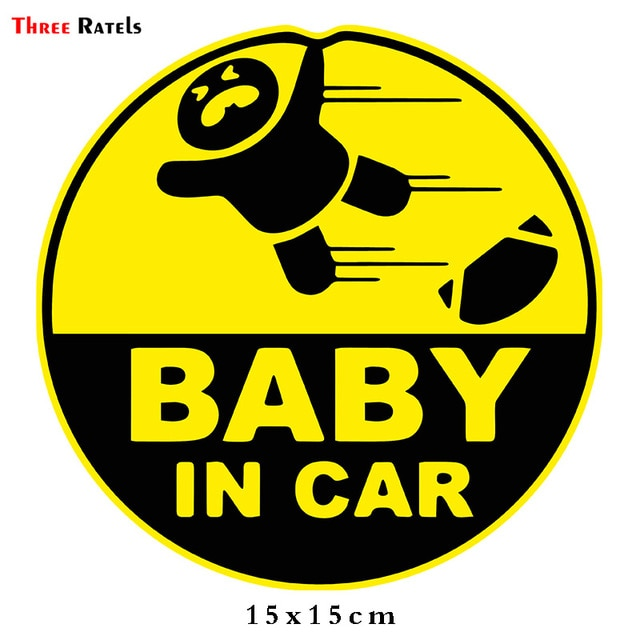 Baby in Car - Car Sticker (2 options available)