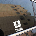 Baby Biker on Board Vinyl Car Sticker