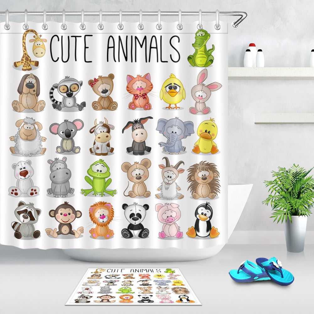 Cute Animals Shower Curtain