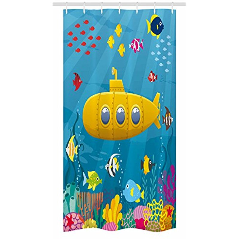 Underwater Marine Life & Submarine Shower Curtain