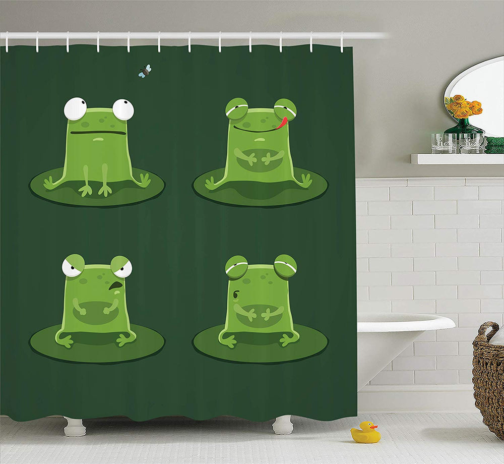Frog on a Lily Pad Shower Curtain