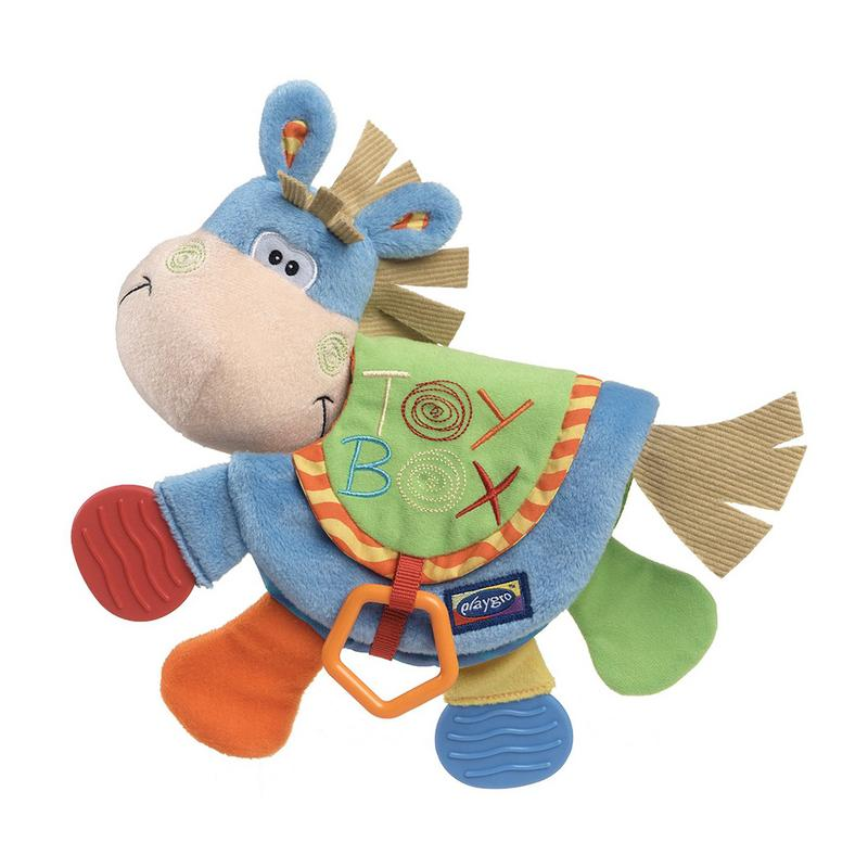 Baby Rattles Toys Cute Donkey Animal Cloth Book
