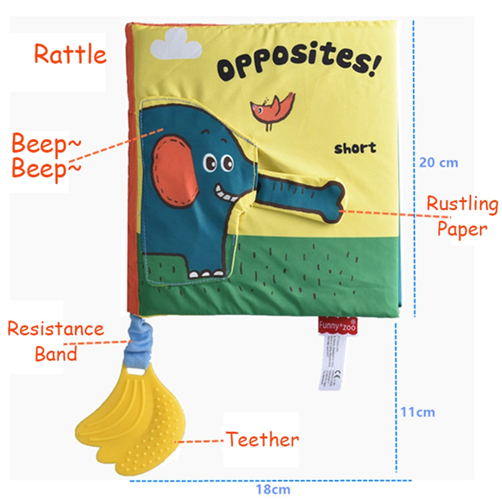 Soft Elephant Book Three-Dimensional Puzzle Early Education