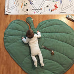 Leaf Shaped Soft Cotton Crawling Rug