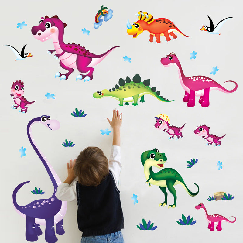 Colorful Dinosaur Wall Sticker Set