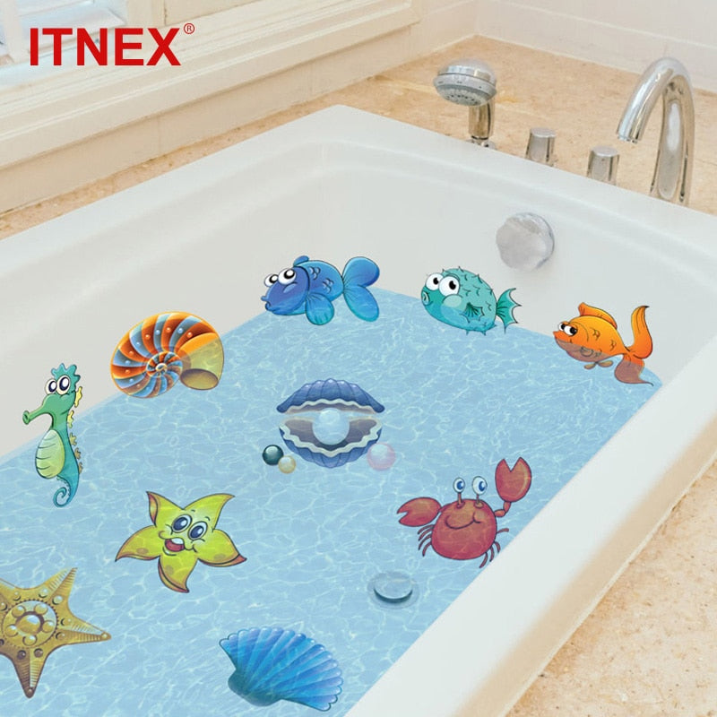 Fish & Sea Wall Stickers for the Bathtub