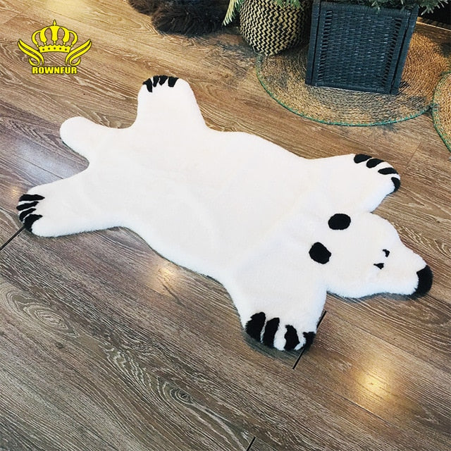 Faux Fur Bear Rug Nordic White Soft & Shaggy