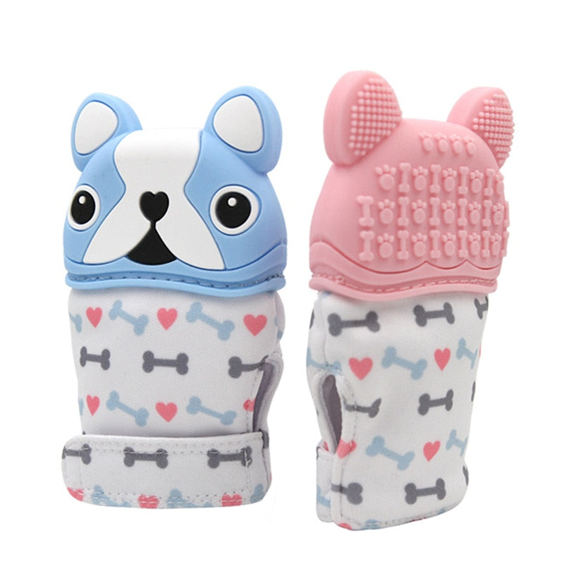 Dog Baby Teething Silicone Glove