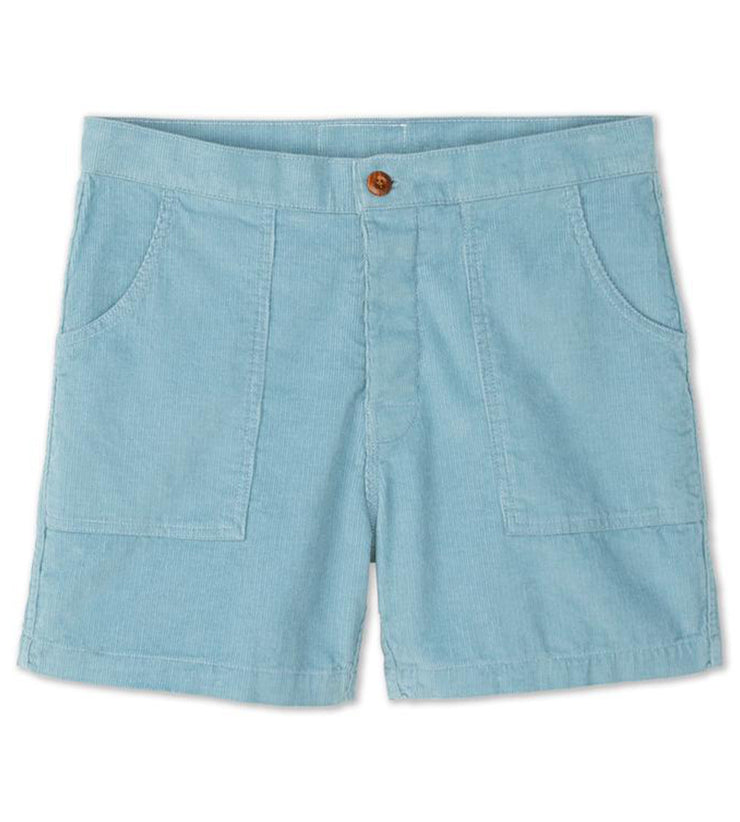 Corduroy Shorts Light Blue