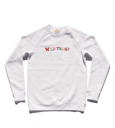 Ozzy Raglan Fleece White
