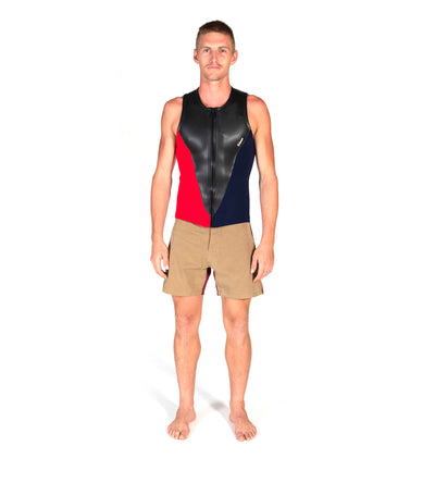 Slice Vest (Navy/Red)