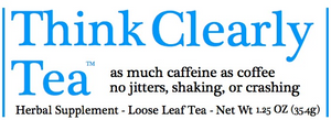Think Clearly Tea - Organic Guayusa Label