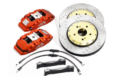 "FRONT 18"" WHEEL FITMENT BIG BRAKE KIT - F500 Forged Calipers (356mm/14in Rotors)"