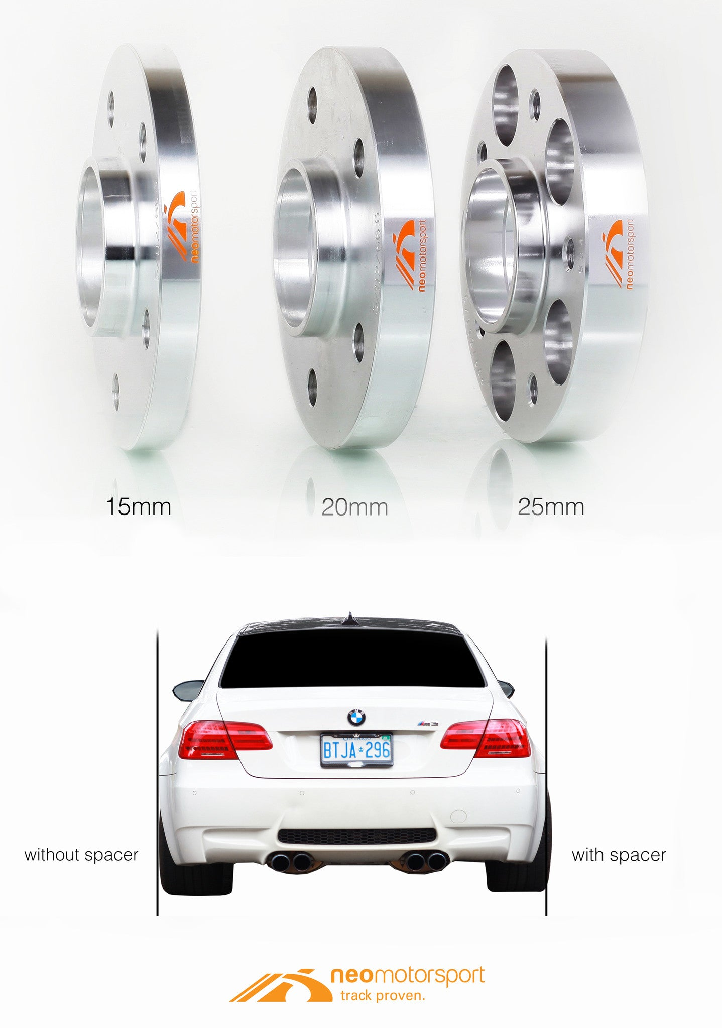 High Quality True Forged Wheel Spacers For Bmw E39 5 Series 528i 530i 540i M5 Neo Motorsport