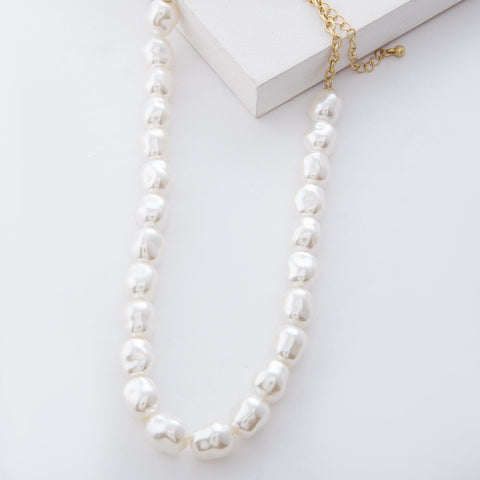 Ivory Baroque Pearl Beaded Necklace