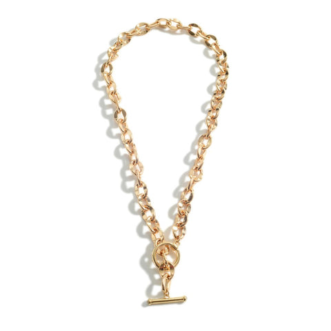 Toggle Link Gold Chain Necklace