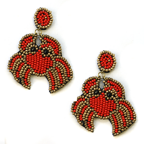 Crabby Seed Bead Earrings