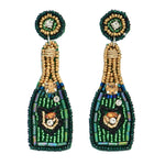 Green Champagne Earrings
