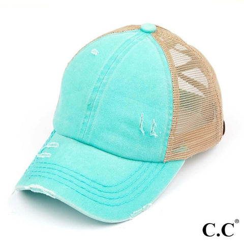 Tuquoise criss cross hat