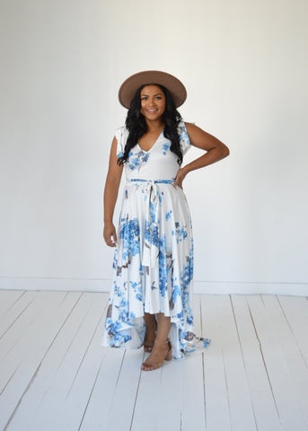 Whisk Me Away Floral High Low Maxi
