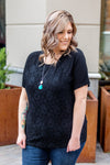 IN STOCK Lace Front Tee - Black