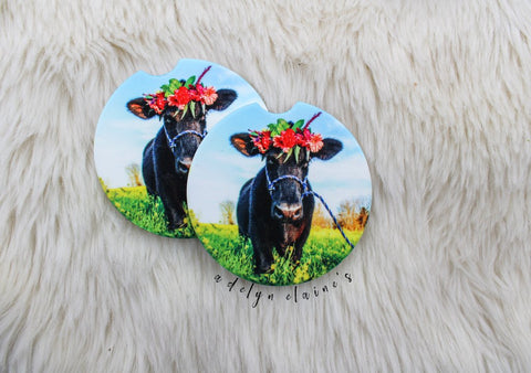 Car Coasters- Holstein Girl