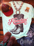 Knockin Boots V neck unisex t shirt Mint
