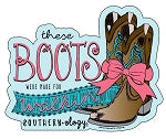 These boots were made for walkin Decal