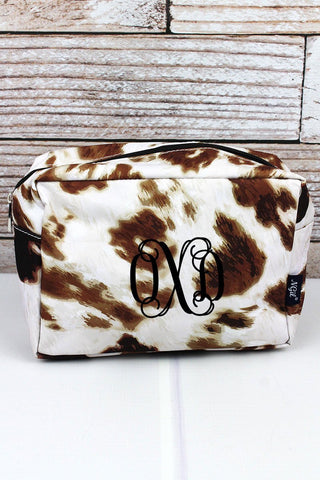 Brown Cows Cosmetic Case