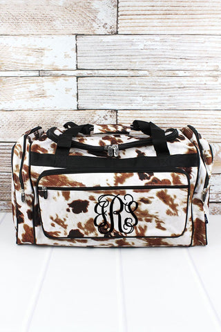 Brown Cows Traveling Duffle