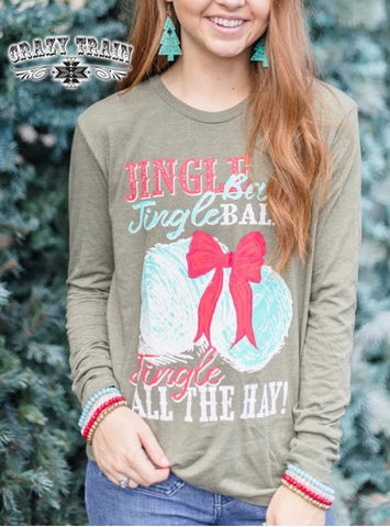 Jingle bales long sleeve t shirt