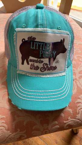 Youth pig livestock show hat